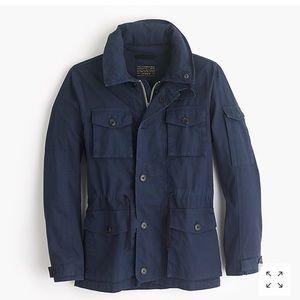 NWT J crew men mechanic jacket blue size S